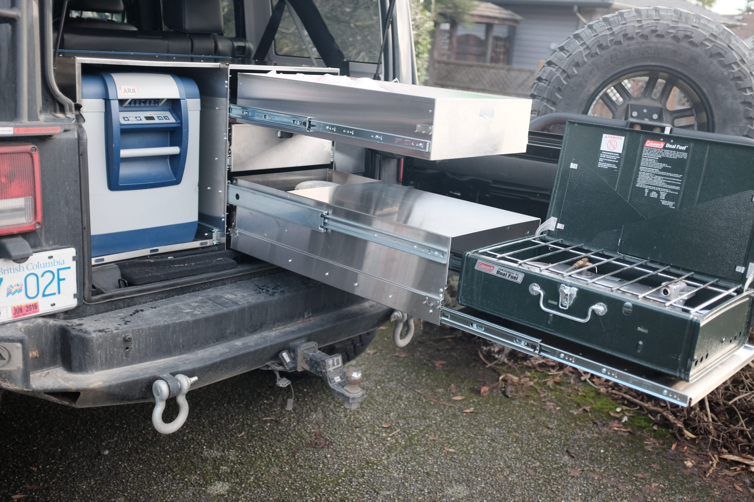 Complete Kitchen Fridge And Stove Drawer Cab Overland Kitchen